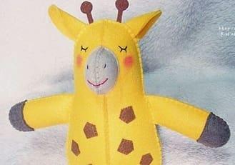 Жираф из фетра. Выкройка