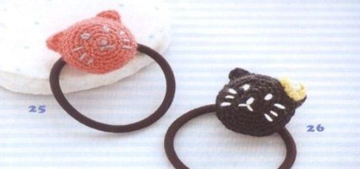 Кошечка крючком. Резинка для волос малышки