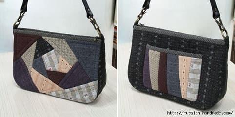 Лоскутная сумочка в технике пэчворк. Шаблоны