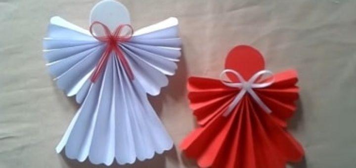 Ангелы из бумаги. Подвески для елочки