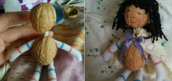 Куколка из грецких орехов