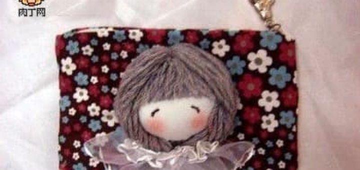 Шьем сами кошелек с головой куколки