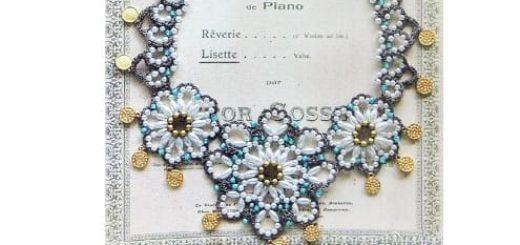 Нарядное ожерелье из бисера. Схема
