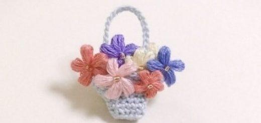 Цветочки крючком для создания сережек