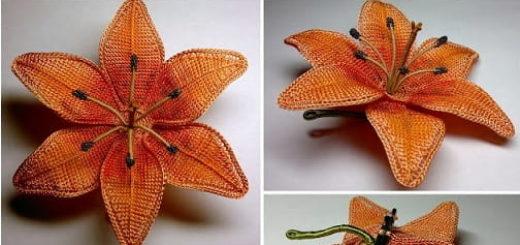 Цветы крючком. Тигровая лилия