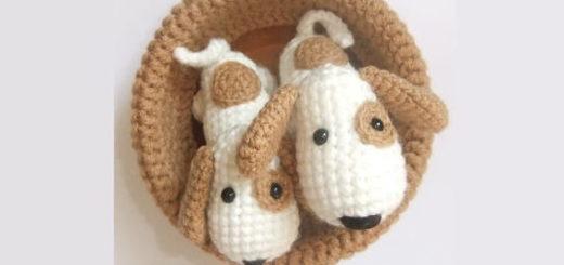 Крошечные собачки амигуруми. Описание
