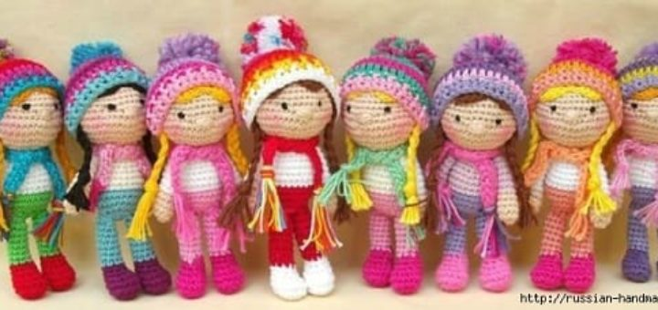 Вязание мини куколок амигуруми