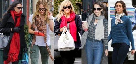 Какие женские шарфы в моде