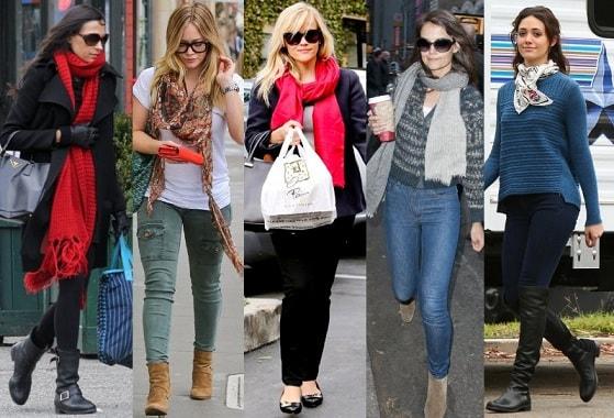 Какие женские шарфы в моде (3)