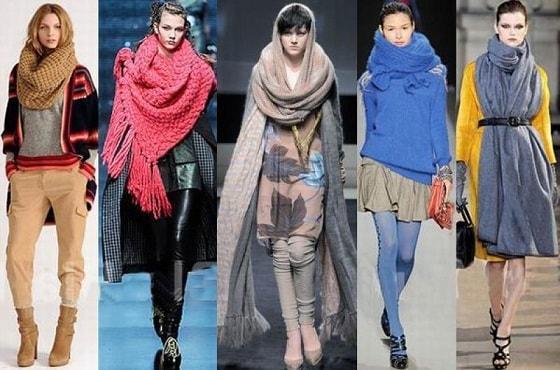 Какие женские шарфы в моде (4)