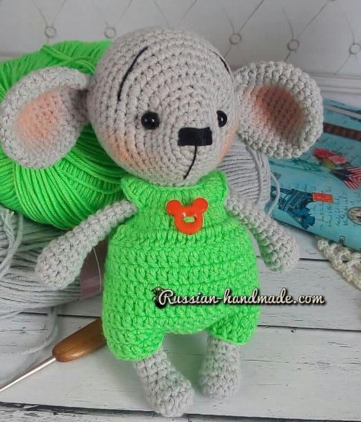 Мышонок крючком. Описание вязания (1)