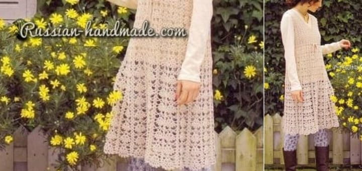Платье крючком ажурным узором (1)