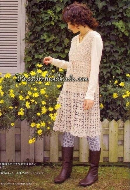Платье крючком ажурным узором (2)