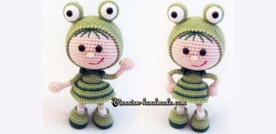 Вязание амигуруми. Куколка Лягушка (1)