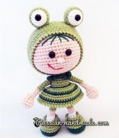 Вязание амигуруми. Куколка Лягушка (2)
