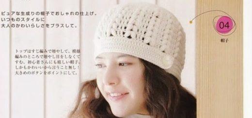 Зимняя шапочка крючком красивым узором