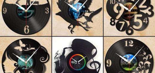 Часы из виниловых пластинок (1)