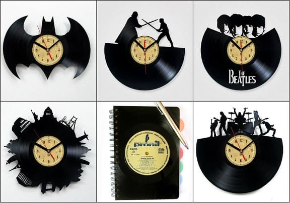Часы из виниловых пластинок (2)