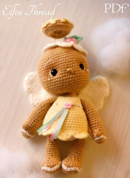 Пряничный ангел амигуруми. Описание (4)