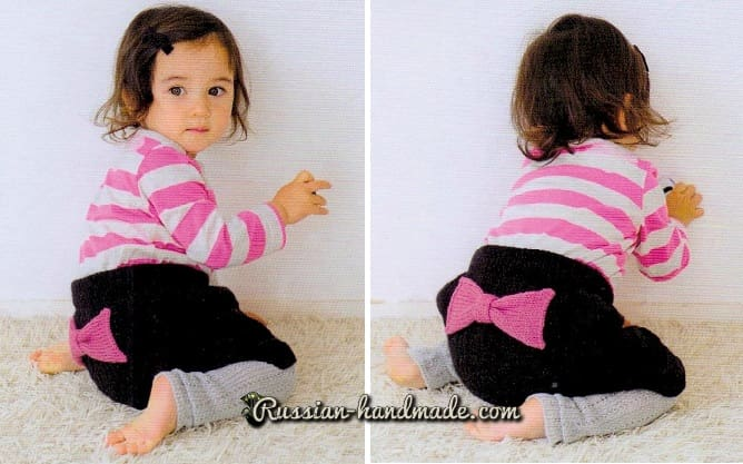 Теплые штанишки спицами для малыша