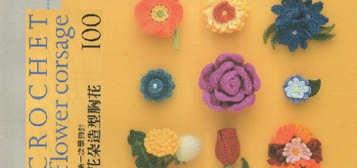 Crochet flower corsage - 100 цветов крючком