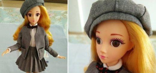 Как сшить берет для куклы. Мастер-класс (6)