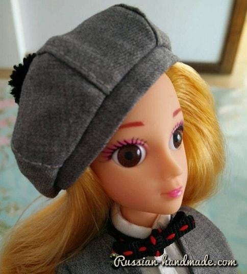 Как сшить берет для куклы. Мастер-класс (7)