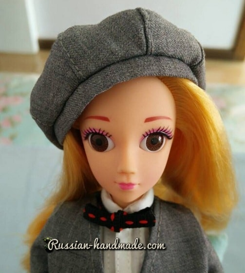 Как сшить берет для куклы. Мастер-класс (8)