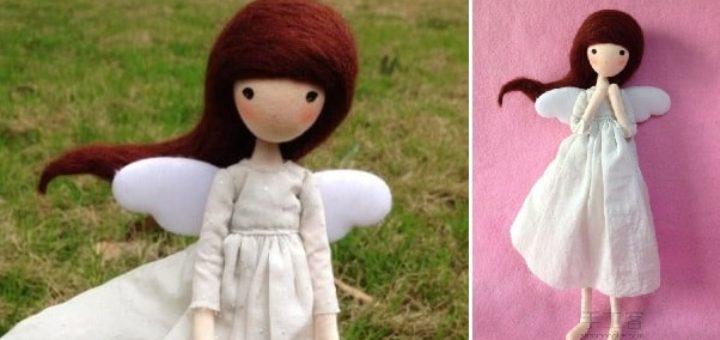 Куколка Ангел своими руками из проволоки и ниток
