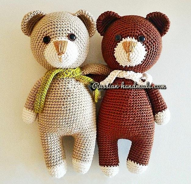 Описание вязания крючком медвежонка (1)