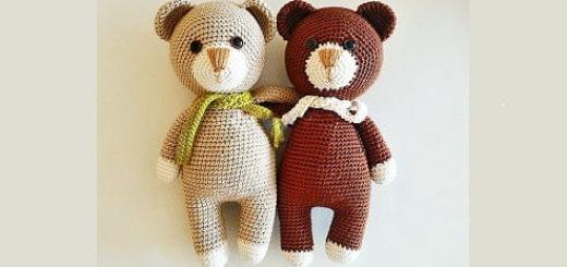 Описание вязания крючком медвежонка (2)