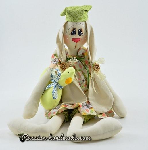Ушастый кролик тильда с уточкой. Выкройка (3)