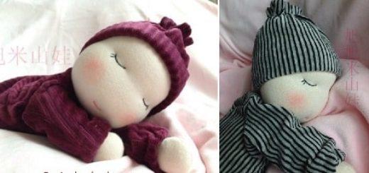 Вальдорфская кукла. Как сшить младенца-сплюшку (2)