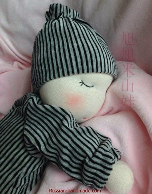 Вальдорфская кукла. Как сшить младенца-сплюшку (3)