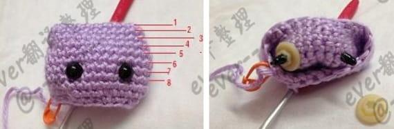 Котенок амигуруми. Описание вязания (8)