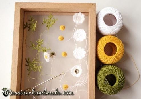 Маргаритки крючком. Схемы вязания (2)