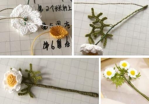 Маргаритки крючком. Схемы вязания (3)