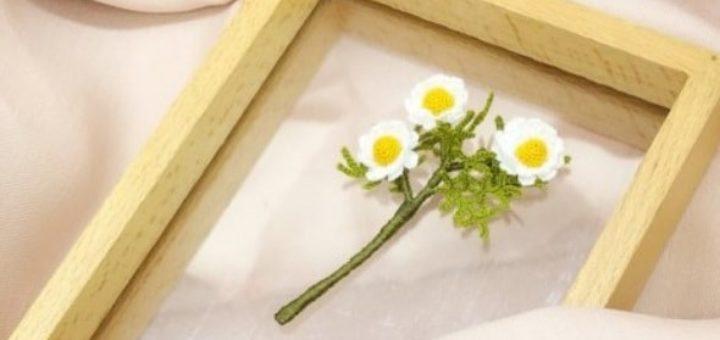 Маргаритки крючком. Схемы вязания (5)