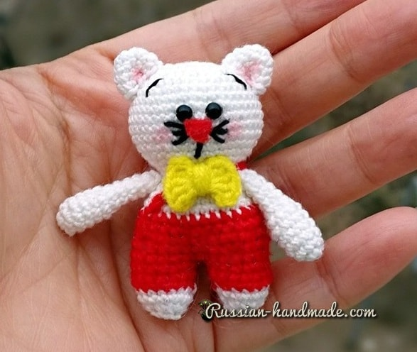 Описание вязания котика амигуруми (2)