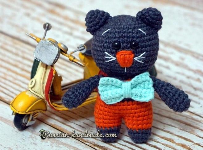 Описание вязания котика амигуруми (3)