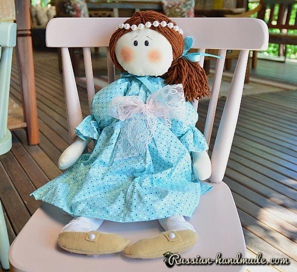 Текстильная кукла Мелинда (1)