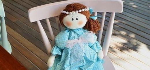 Текстильная кукла Мелинда (2)
