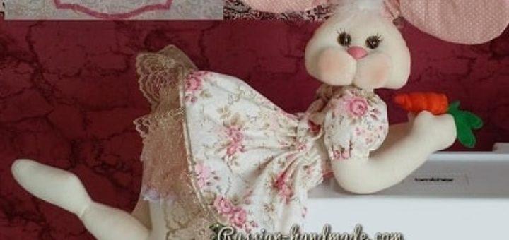 Текстильный кролик-балеринка (1)