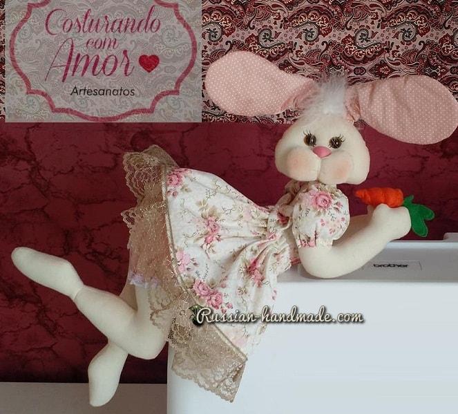 Текстильный кролик-балеринка (2)