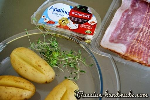 Запеченный молодой картофель в средиземноморском стиле