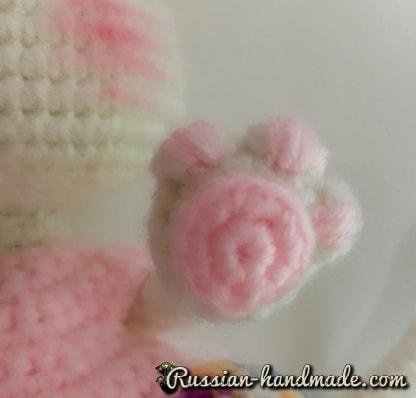 Кошечка в платьице. Вязание крючком (2)