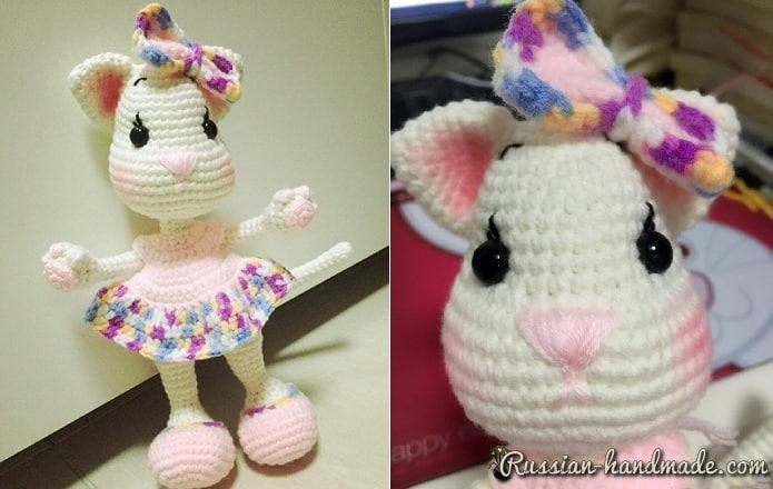 Кошечка в платьице. Вязание крючком (3)