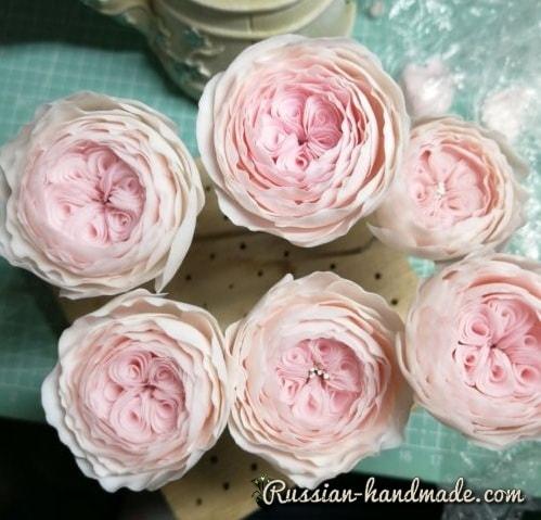 Английские розы из полимерной глины (1)