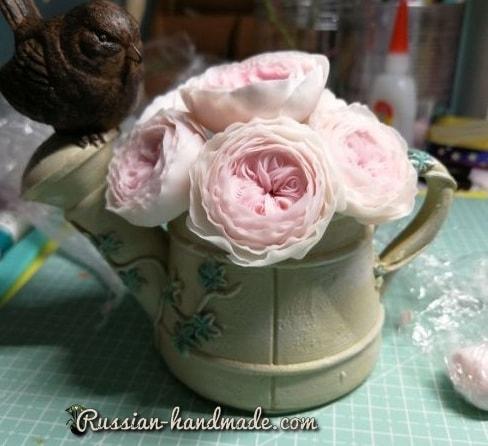Английские розы из полимерной глины (2)
