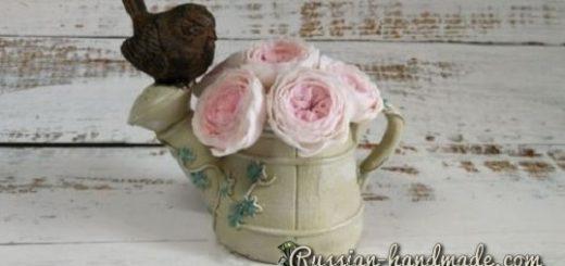 Английские розы из полимерной глины (3)